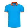 color 1high quality turn down collar work staff t-shirt unifrom