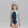 navy+light bluewater game girl one-piece swimwear
