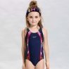 children navyone-piece bare back bikini swimwear