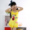 Yellowcartoon mickey mouse children girl swimwear swimsuit