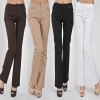 2015 classic fashion Europe/America casual mid waist bell bottom cotton office lady OL women pencil pants jeans trousers