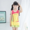 color 3lovely one piece child girl swimwear