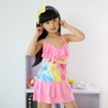 Pinkhigh quaity cheap cartoon girl swimwear