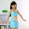 Light Bluehigh quaity cheap cartoon girl swimwear