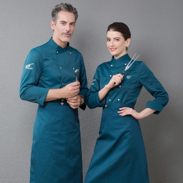 long sleeve fashion restaurant  chef jacket baker uniform