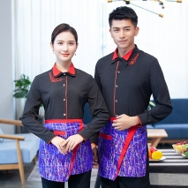 long sleeve Asian restaurant  waitress waiter shirt uniform jacket