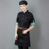 waitress blackEurope American denim fit restaurant  waitress waiter work uniform jacket apron