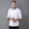 color 2denim invisible button side open cooking  workwear restaurant  chef jacket baker uniform