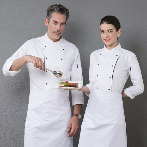 unisex women men workswear restaurant  chef jacket baker uniform