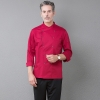 color 3unisex double breasted workswear restaurant  chef jacket baker uniform