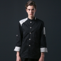 young single breasted workswear restaurant  chef jacket baker uniform