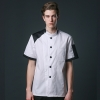 color 1young patchwork fashion restaurant  chef jacket baker uniform