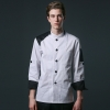 color 2young patchwork fashion restaurant  chef jacket baker uniform