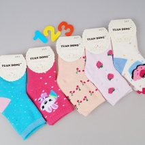 lovely cartoon fruit print children socks 3~5 years old