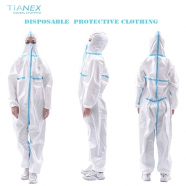 civil/medical use disposable  protective clothing SMS