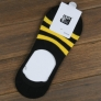 three bar stripe summer cotton man boat socks