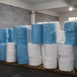 high quality white/blue mask raw materials Non-woven mask spunbond  layer pp fabric  low price
