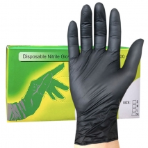 power free textured black gloves disposable nitrile gloves wholesale