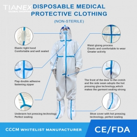 factory  wholesale medical disposable protective suit CE FDA certificated protective clothing