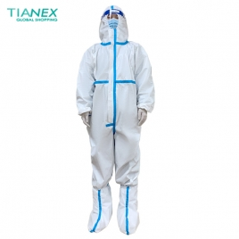 anti covid-19 medical disposable protective suit Isolation gown CE FDA certificated protective clothing single-use