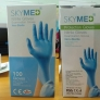 CE FDA certificated skymed non-sterile nitrile Examination gloves disposable medical gloves factory source