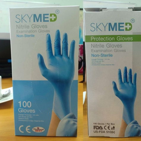 skymed non-sterile nitrile Examination gloves disposable medical gloves CE FDA certificated wholesale