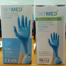 skymed non-sterile nitrile Examination gloves disposable medical gloves CE FDA certificated