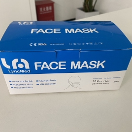 lyncmed CE FDA ceritficated mask surgical mask EN14683 Type IIR medical mask