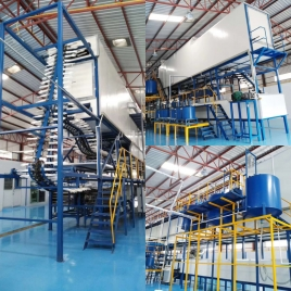 Nitrile gloves machine produce line nitrile glove factory building