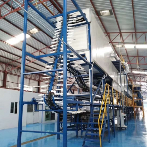 Latex gloves produce line factory building  Gloves Dipping Machine