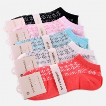cute jacquard woman ankle socks