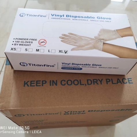 high quality Titianfine pvc/vinyl single use  glove disposable  gloves ce certificated
