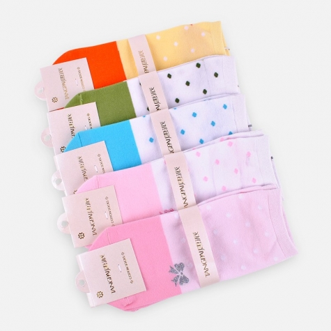 chic cute dot bow young lady socks
