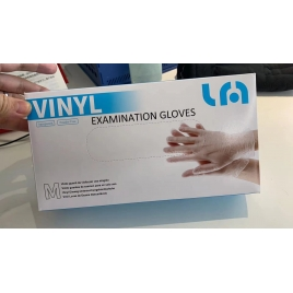 lyncmed transparent color disposable Examination gloves EN 455 Medical grade pvc/vinyl gloves pre-order