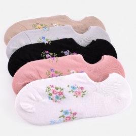 sweet floral print women ankle socks