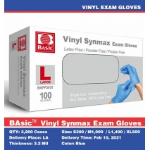 Intco basic  Medical  vinyl synmax exam gloves OGT ready in Los Angeles warehouse 3200 cartons