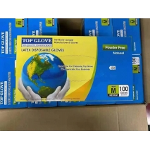 top gloves disposable latex glove OGT ready stock in Malaysia