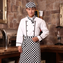 long sleeve white chef coat uniform
