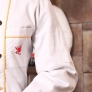 China dragon print chef coat uniform