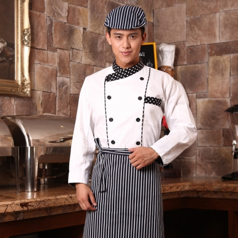 double breasted chef uniform long sleeve