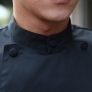 stand collar roll hem upgrade chef coat chefs uniform
