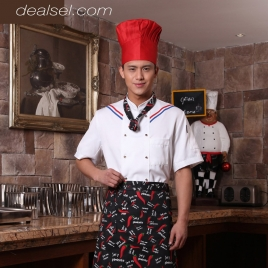 summer thin fabric short sleeve chef shirt uniform