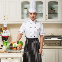new short sleeve cotton chef uniform coat