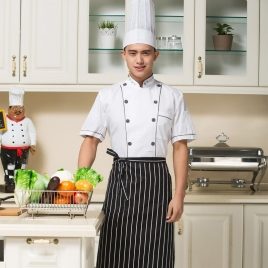 summer design short sleeve fine quality chef coat