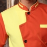 uniform for chef orange color short sleeve