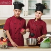 fashion hot sale summer chef staff uniform workwear