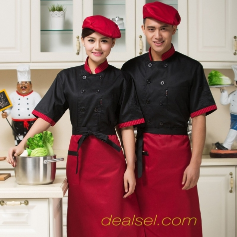summer 2015 new chef uniform work coat special price