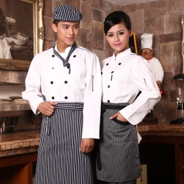 Russian classic restaurant chef uniform fashion design