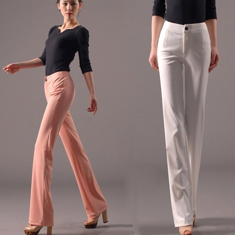 spring summer thin top quality women's staight leg pant trousers jeans