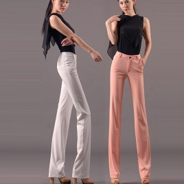 summer vogue classic thin straight leg women's dressy pant trousers